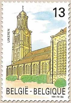 belgian stamps Tourisme  St-Laurentius Church - Lokeren
