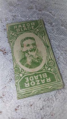 Annons på Tradera: Rakblad oöppnad förpackning. Samlarobjekt. Unopened razorblade. GILLETTE?