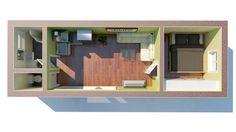 Jednomodul Medium | Modulárné drevostavby Shed, Outdoor Structures, Barns, Sheds