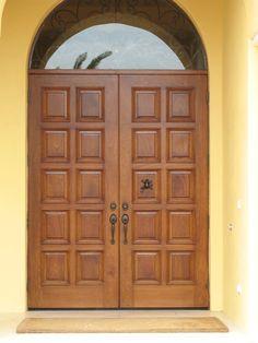 39 new ideas double door entryway indian Main Entrance Door Design, Wooden Main Door Design, Double Door Design, Front Door Design, Yellow Front Doors, Wooden Front Doors, Interior Exterior, Exterior Doors, Barn Door Designs