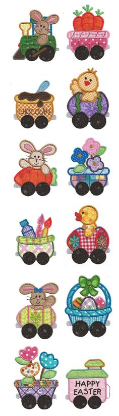 Embroidery | Free Maching Embroidery Designs | Cottontail Express Applique 4x4 hoop