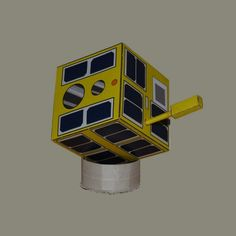 LEM - Polish nanosatellite.  Free model: http://www.gniazdoswiatow.net/2014/04/03/stanislaw-lem/