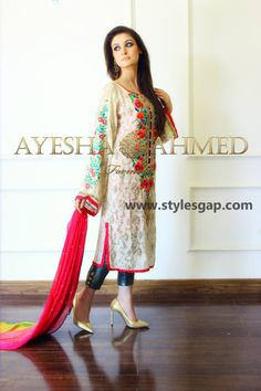 Ayesha Ahmed Bridal Formal Wear Dresses are in luxury elegant eastern designs that bride is looking to wear in the hot days of summer these are after marriage dresses. Pakistani Wedding Outfits, Pakistani Dresses, Indian Dresses, Indian Outfits, Pakistani Clothing, Pakistani Bridal, Western Dresses, Indian Attire, Indian Wear
