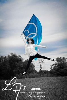 Senior Photos Colorguard-Swing Flag I am so going to attempt to do this with a self timer Senior Portraits Girl, Senior Girl Photography, Band Photography, Girl Senior Pictures, Senior Girls, Senior Photos, Senior Session, Colour Guard, Color Guard Flags