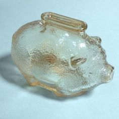 Vintage Anchor Hocking Piggy Bank - Marigold Carnival Glass - we had 2 of these Big and little - little was mine.