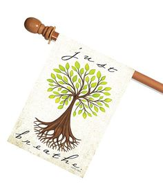 Another great find on #zulily! 'Just Breathe' Outdoor Flag #zulilyfinds