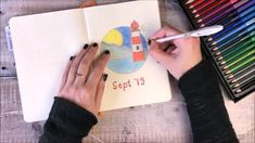 Empolgante Bullet Journal September Setup This is my cover page for September ☺️ Y. August Bullet Journal Cover, Bullet Journal Gifts, Bullet Journal Cover Ideas, Bullet Journal Tracker, Bullet Journal Themes, Bullet Journal Spread, Bullet Journal Layout, Journal Covers, Bullet Journal Inspiration