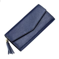 Genuine Leather Long Clutch Wallet //Price: $59.99 & FREE Shipping //     #girly #clothes Clutch Wallet, Clutches, Wallets, Girly, Free Shipping, Purses, Eyes, Amp, Leather