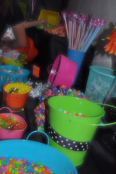 Candy buffet at Miranda's Sweet Sixteen Party
