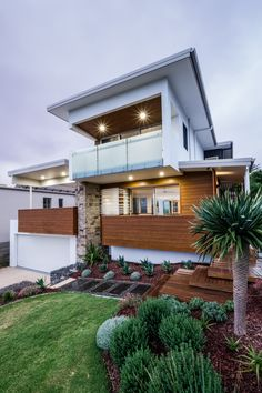 Magpie Residence - Habitat Studio Architects Passive Design, Gabion Wall, Heating And Cooling, Habitats, Bridge Restaurant, Sustainability, Facade