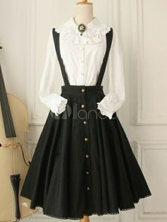 Cheap Vintage Gothic Ruffles Big Cardigans Lolita Strap Dresses Sale At Lolita Dresses Online Shop. We provide Lolita products with quality and best service online, lower price and top style fashion for you. Style Lolita, Mode Lolita, Gothic Lolita Dress, Victorian Era Dresses, Victorian Fashion, Vintage Dresses, Dresses Online, Dresses For Sale, Cute Dresses