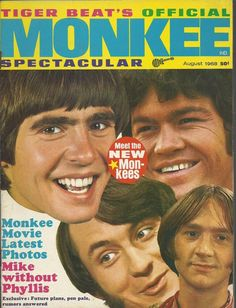 AUGUST 1968 MONKEES MOVIE ISSUE SPECTACULAR TIGER BEAT MUSIC MAGAZINE FANZINE