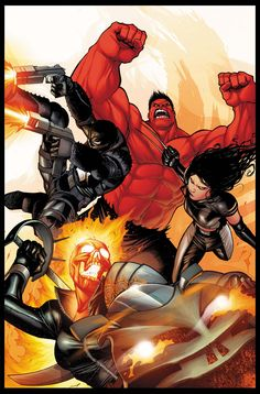 Red Hulk, Agent Venom, X-23, and Ghost Rider: The NEW New Fantastic Four