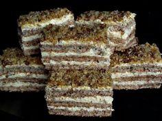 Romanian Desserts, Russian Desserts, Romanian Food, Romanian Recipes, Sweets Recipes, Cake Recipes, Cooking Recipes, Cooking Tips, Krantz Cake