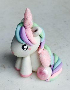 Unicorn Polymer Clay Charm