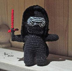"Thanks for the kind words! ★★★★★ ""This is incredible.  Very well done.  I love it!"" aliairulanrahl #etsy #toys #black #birthday #christmas #red #amigurumikyloren #kyloren #crochetkyloren #starwars"