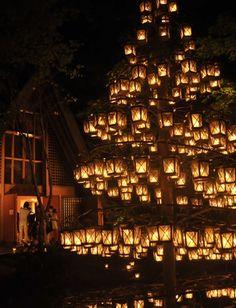 Summer Candle Night at Karuizawa / 軽井沢高原教会のサマーキャンドルナイト http://www.siragazome.jp/somegatari/18/index.html