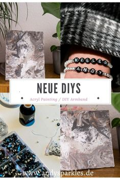 probiere diese DIYs im Lockdown aus Armband Diy, Diy Blog, Diy Interior, Interior Inspiration, Lifestyle Blog, Diy And Crafts, Fashion Beauty, German, Painting