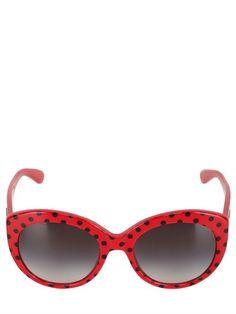 Dolce & Gabbana rounded cat-eye polka dot sunglasses