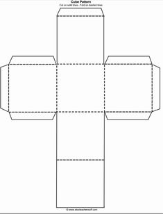 cube template Printable Cube Pattern or Template Lapbook Templates, Templates Printable Free, Free Printables, Box Templates, Patron Cube, Cube Template, Paper Box Template, Origami Templates, Story Cubes
