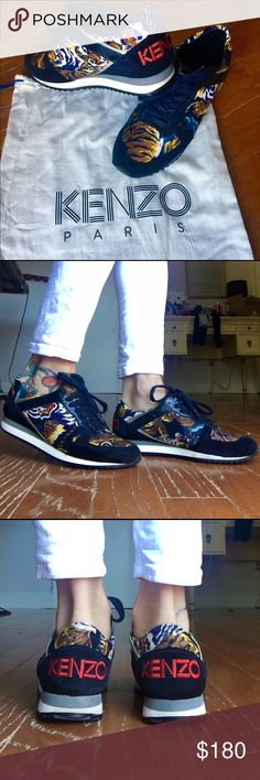 Authentic Kenzo sneakers  Navy Kenzo sneakers, condition excellent, including dust bag , 100%+patent leather  Kenzo Shoes Sneakers