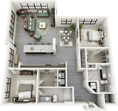 19 awesome apartment plans with two bedrooms part 1