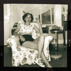Marilynn Paschall, keeping it cool, summer of 1951, Bridgeport, Texas