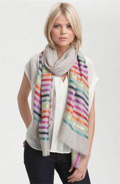 Vismaya bright stripe scarf