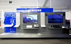 Picture Samsung, TV Fixtures, Westford Stratford Centre, London / Visplay Rack Design, Display Design, Booth Design, Samsung Store, Samsung Tvs, Retail Merchandising, Retail Displays, Exhibition Booth, Exhibition Stands