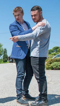 Robert Sugden (Ryan Hawley) & Aaron Dingle (Danny Miller) (July 2016)