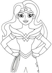 free printable wonder woman super hero high coloring page