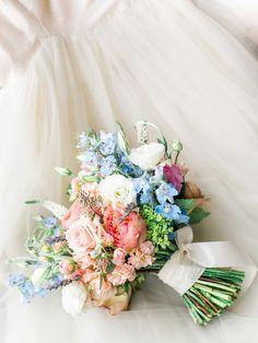 Pretty pastel-hued blooms: http://www.stylemepretty.com/2016/02/12/elegant-romantic-atlanta-spring-wedding/   Photography: Carla Gates - http://www.carlagatesphotography.com/