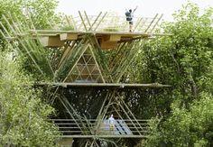 Arquitetura Sustentavel: Hotel de bambu faz visitantes se sentirem como pás...