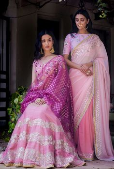 Colors & Crafts Boutique™ offers unique apparel and jewelry to women who value versatility,… Indian Attire, Indian Wear, Saree Blouse Designs, Kurta Designs, Indian Dresses, Indian Outfits, Saris Indios, Simple Lehenga, Modern Saree