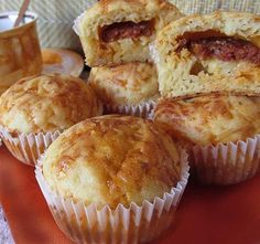 Hungarian Recipes, Pizza Party, Calzone, Pizza Recipes, Sausage, Muffins, Paleo, Cheese, Homemade