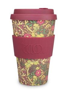 ECoffee Cup William Morris Bamboo Travel Mug, Pomme William Morris, Reusable Coffee Filter, Reusable Coffee Cup, Cappuccino Cups, Coffee Cups, Coffee Beans, Coffee Cup Design, Coffee Subscription, Fibre