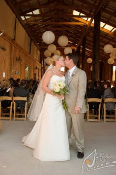 Rustic Barn Wedding*Angela Marie Events*Baton Rouge, LA #kiss #barnwedding