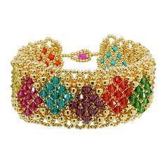 Queen of Diamonds Bracelet | Fusion Beads Inspiration Gallery