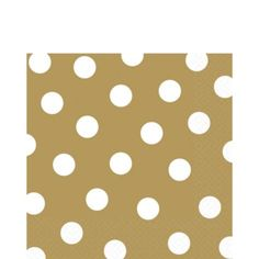 Gold Polka Dot Lunch Napkins 16ct - Party City