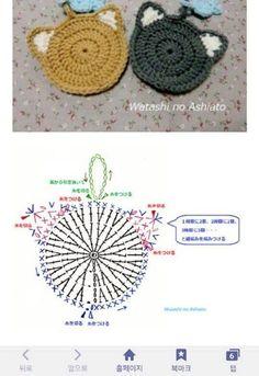 이틀동안 열심히 만든 수세미에요 아이낳기전에 만들어 놓… Es ist ein Wäscher, der seit zwei Tagen hart ist. Crochet Mandala, Crochet Motif, Crochet Doilies, Crochet Flowers, Crochet Stitches, Crochet Coaster Pattern, Crochet Diagram, Crochet Chart, Knitting Projects