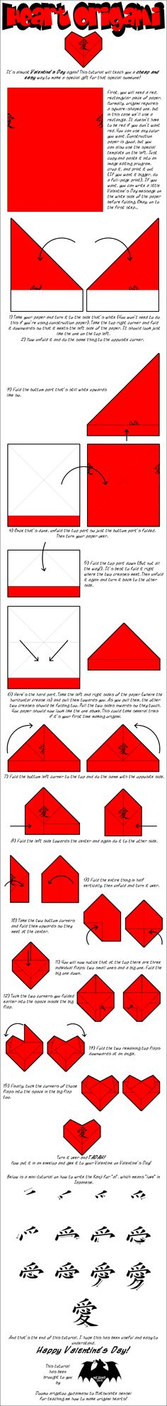 How to make an Origami Heart out of RECTANGULAR paper