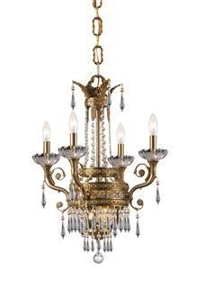 Crystorama Regal 6 Light Clear Crystal Brass Chandelier