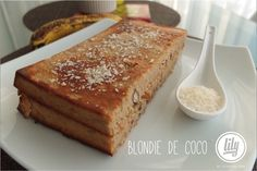 BLONDIE DE COCO - Powered by @ultimaterecipe Blondies, Coco, Banana Bread, French Toast, Celestial, Breakfast, Desserts, Dessert Recipes, Sweets