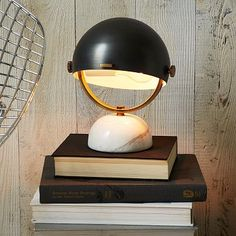 Clint Mini Task Lamp - Marble / Black #westelm $99