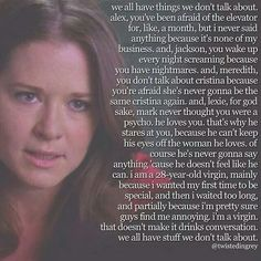 One of my favorite things that april has ever said!!!! I dont understand why people find her so annoying!!! I think she is a great character! She is just so sweet!!!