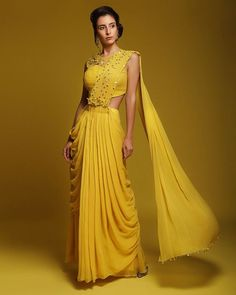 Indo-Western Dress Ideas For Brides To Rock Their Engagement Outfits - - Indo-Western Dress Ideas For Brides To Rock Their Engagement Outfit Source by shaadiwish Indian Gowns Dresses, Indian Fashion Dresses, Dress Indian Style, Indian Designer Outfits, Stylish Sarees, Stylish Dresses, Western Dresses For Women, Western Dresses For Party, Style Marocain