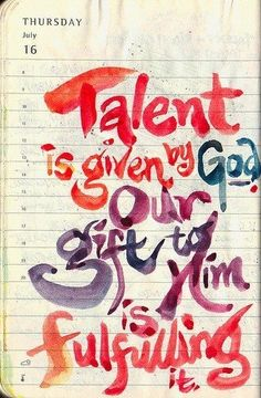 What is your God given talent? Spiritual Gift?