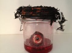 Torture Factory - Rust Dust - on painted lid and some creepy cloth = Easy awesome jars