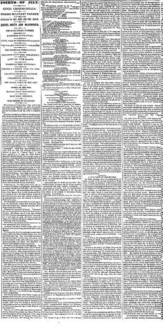 """FOURTH OF JULY. 1857.  Parade ends with """"Dead Rabbit Riot"""". (high historical importance)"""