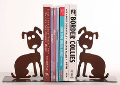 A DOG WALKS INTO A NURSING HOME would fit perfect on a shelf beside these Dog Lovers Bookends